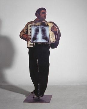 X-ray musician, installtion, Iera Odos, 200x60x10 cm, 1999