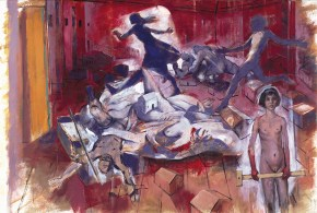Y.'s mid-afternoon dream, oil and acrylic on canvas, 200x300 cm, 1997
