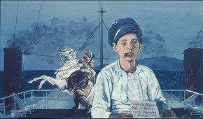 Young sailor, oil on wood, 60x80 cm, 1981