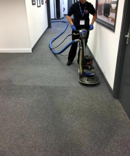 Commercial Office Corridor Carpet Cleaning