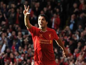 Luis Suarez hat trick