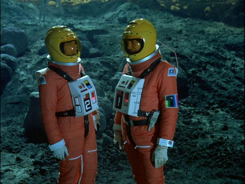 Space 1999 t-shirt spacesuit design