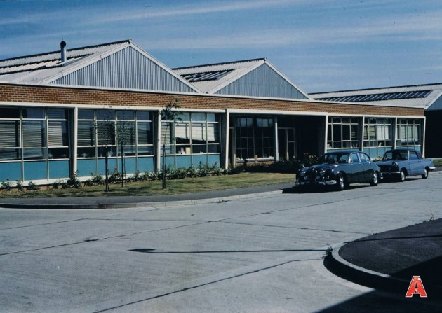 A rare colour still of the Century 21 Studios on Stirling Road, Slough