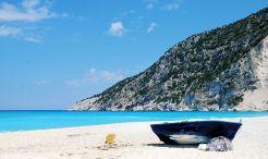 Alone on Myrtos beach