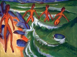 Ernst Ludwig Kirchner, Bathers at the Shore (Fehmarn), 1913
