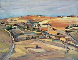 David Bomberg, The Southeast Corner, Jerusalem, 1926