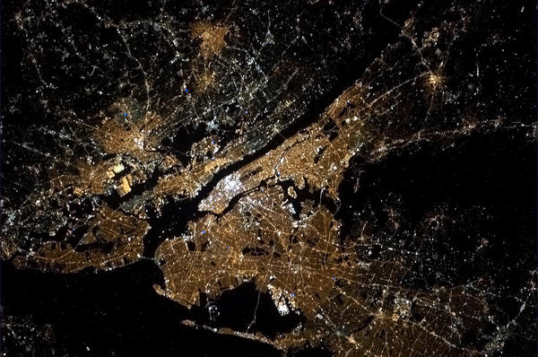 NYC from space at night