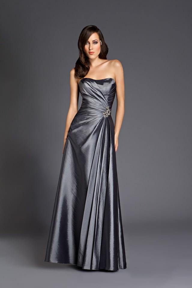 Abendkleid  lang  grau  Gerrys Brautmoden und Festmoden