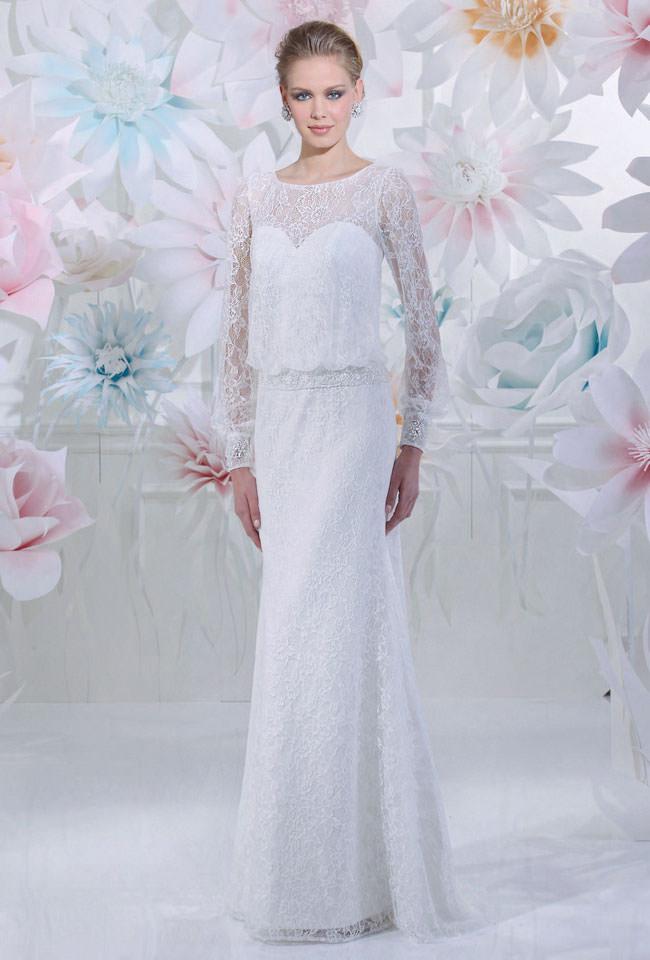 BrautkleidschmalLangarm  Gerrys Brautmoden und