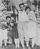 L-R: Ira, Mabel Schirmer, George, and Emily Paley c.1926.