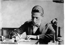 George working at Remick's music publishing. c.1916.
