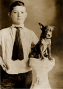 Ira and pup. c.1906.