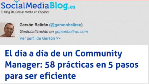 SocialMediaBlog gersón beltrán community manager