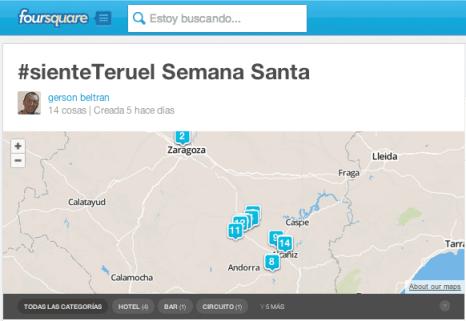 Como usar Foursquare como GPS para hacer un mapa en Google Maps 1