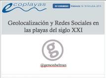 Geolocalizacion y Redes Sociales en las playas del siglo XXI