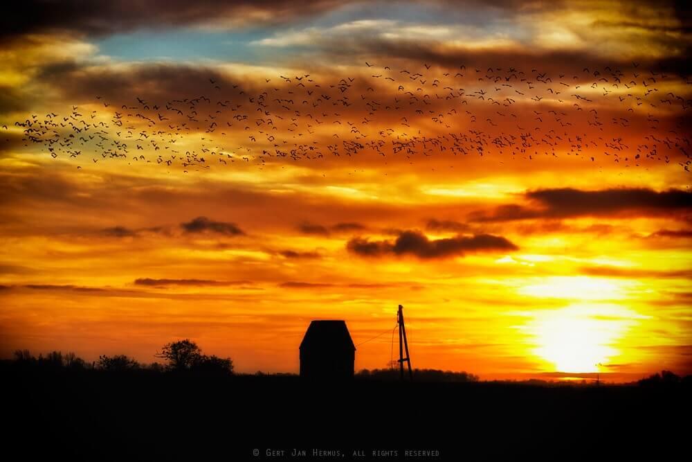 zonsondergang Pikesyl