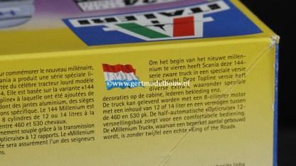 Italeri 3805 Scania 144L Millennium Truck, geopend lees omschrijving SCANIA