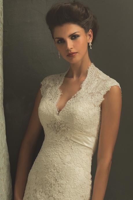 Brautkleid mit spitzenrmel