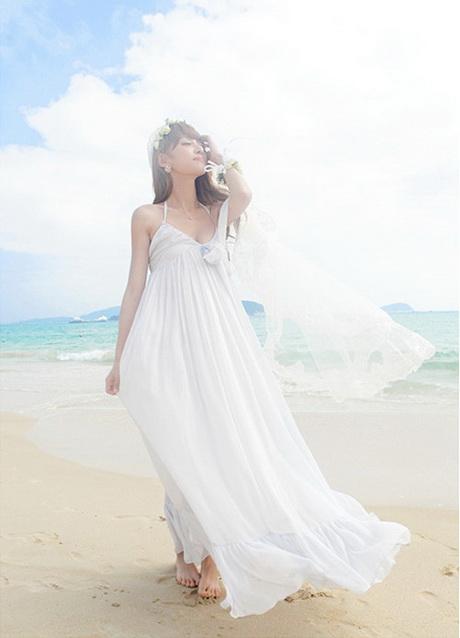 Sommerkleid weiss lang