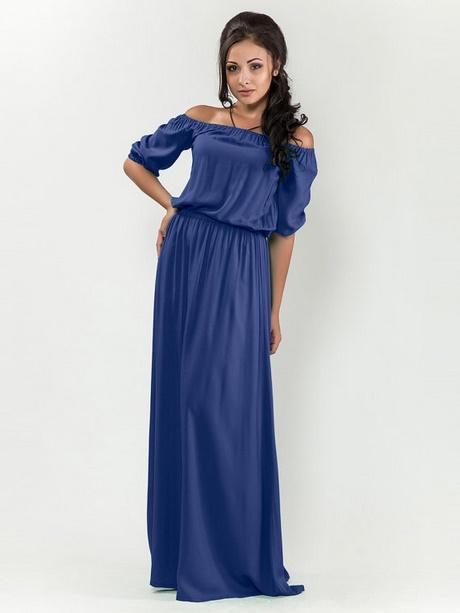 Blaues kleid langarm