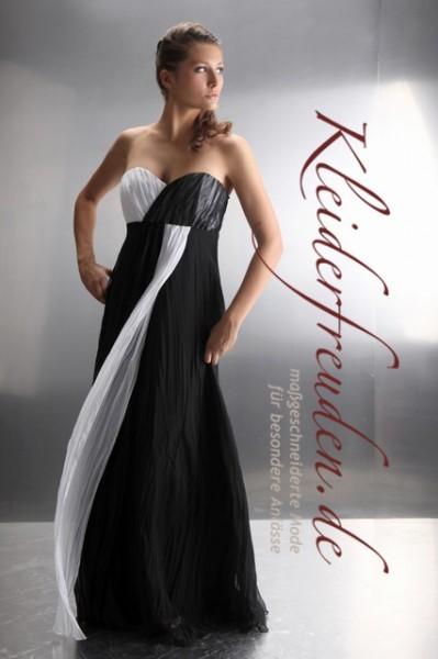 Abendkleider lang schwarz weiss
