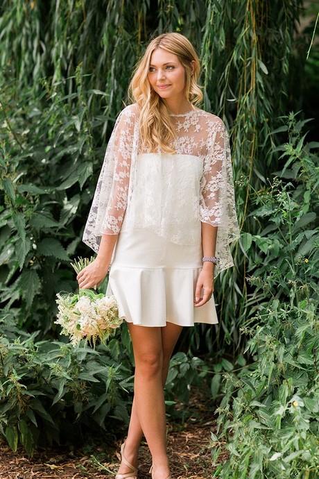 Kleid wei kurz hochzeit