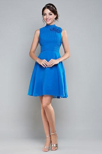 Abendkleid blau kurz