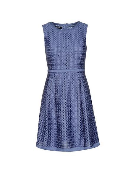 Seidenkleid blau