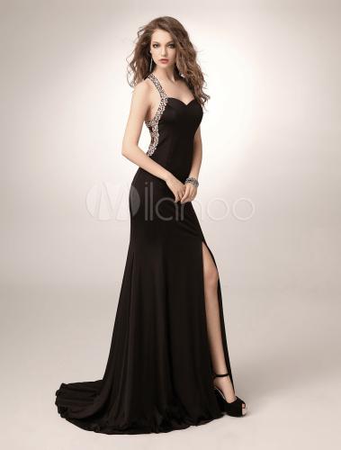 Kleid lang mit schlitz