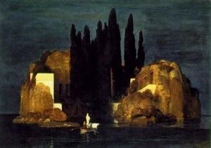 Inspiratiebron: Het dodeneiland van de Zwitserse schilder Arnold Böcklin