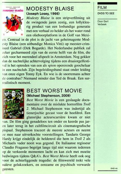 Subbacultcha recensies Nederlands 2011 (selectie)