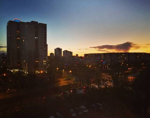 Sunset in Marzahn