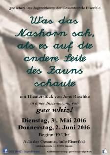 gee whiz - Nashorn Plakat A3 V4 mit zweitem Termin Kopie