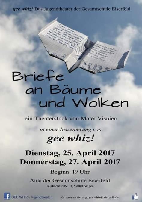 gee whiz -Briefe an Bäume und Wolken Plakat A3 300 2a Kopie