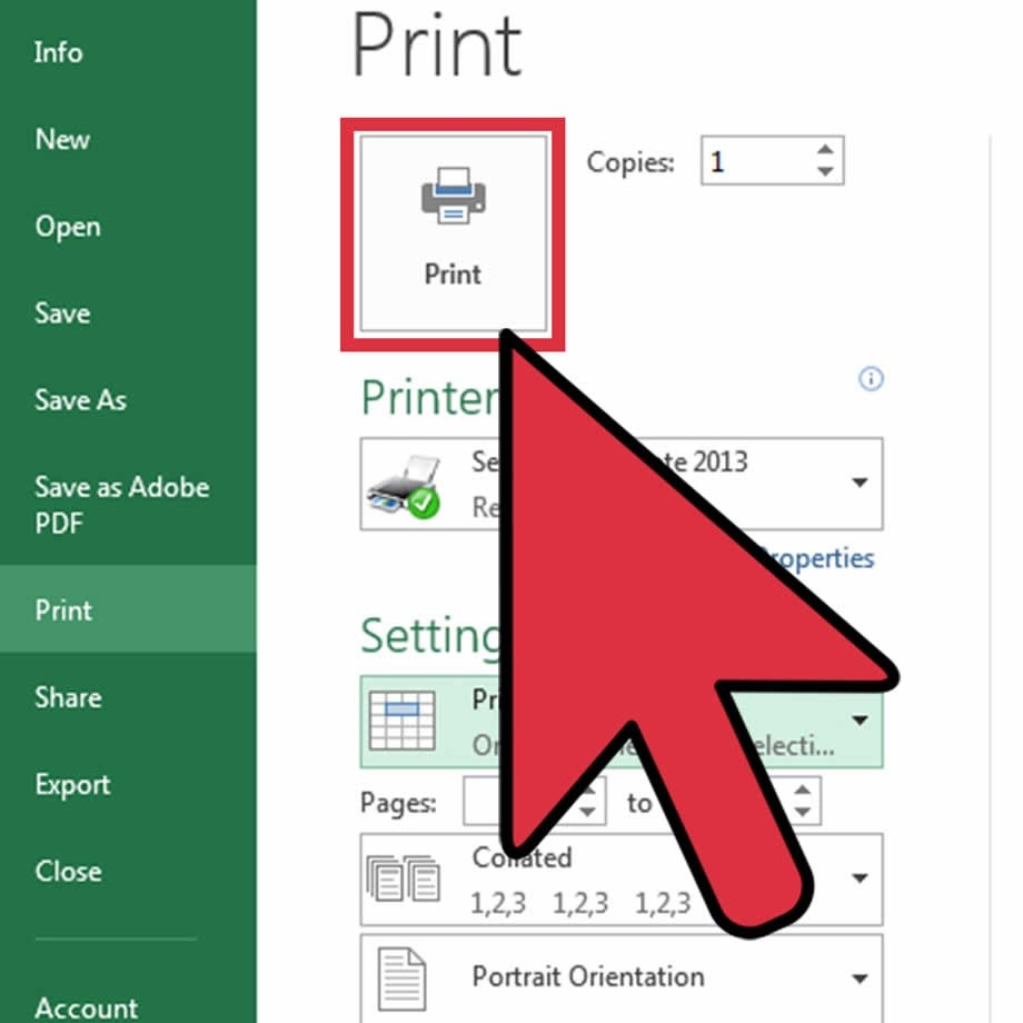 medium resolution of click file and then choose print under settings select print active sheets and choose print selected table click print to finish the process