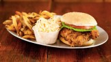 Fried chicken sandwich deluxe