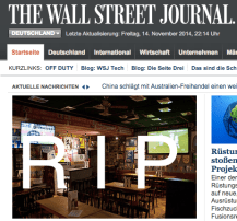 Rest in Peace Wall Street Journal Germany