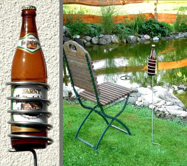 Bierflaschenhalter fr den Garten  Geschenk fr