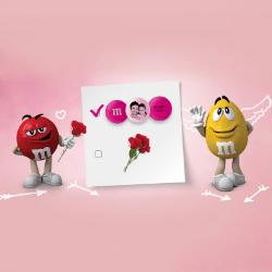 M&M´s - Personalisiertes Geschenk zum Valentinstag für die Frau oder Freundin