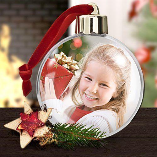 Weihnachtskugel mit Foto  ein Unikat fr den Weihnachtsbaum