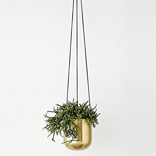Hngender Blumentopf aus Messing  stylisches Geschenk