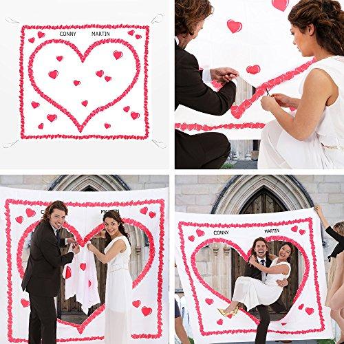 Hochzeitsherz zum Ausschneiden fr das Brautpaar  tolles