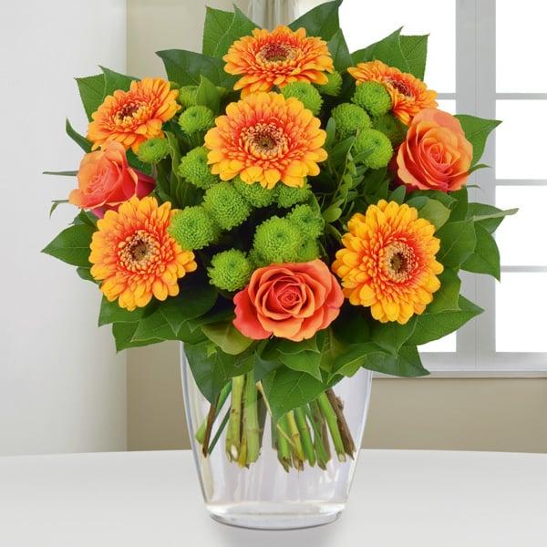 Blumenstrau Dankeschn  einfach mal Danke sagen