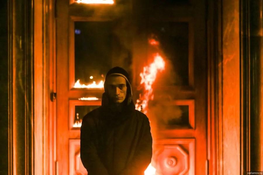 "Petr Pavlenskij: ""Bedrohung"", Foto: Nigrina Beroeva"