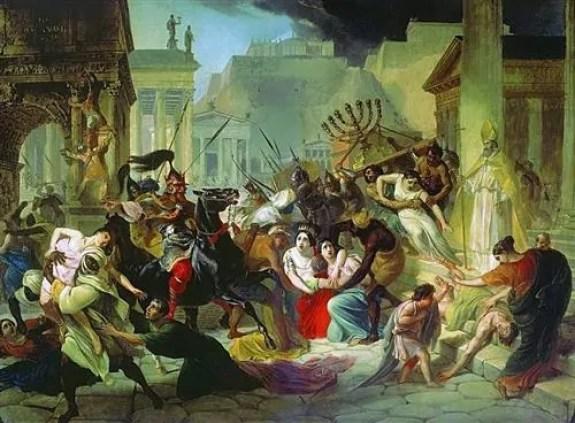 """Furcht ums Abendland von seinem rechten Rande her – Karl Brjullov: Geiserich fällt in Rom ein (1835)"""" Quelle: http://www.wikiart.org"""