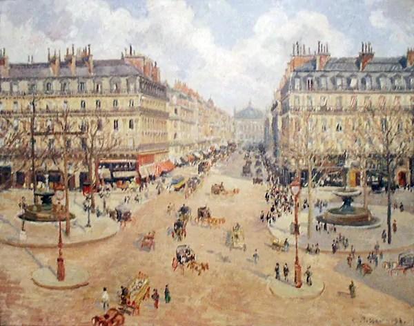 Camille Pissarro: Avenue de l'Opéra, 1898; Philadelphia Museum of Art; Quelle: pbase.com