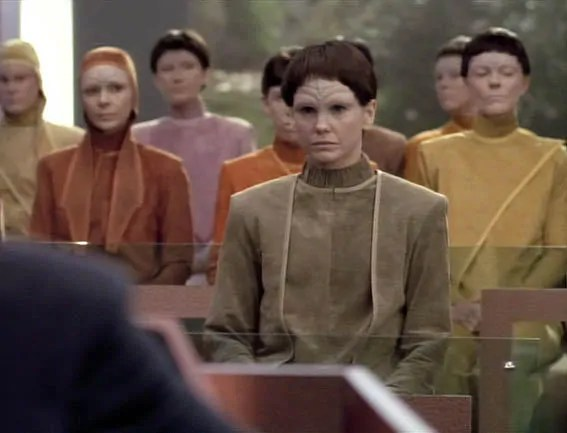 "Still aus ""Star Trek: The Next Generation"", die J'naii – eine androgyne humanoide Rasse. Quelle: www.wheelercentre.com"