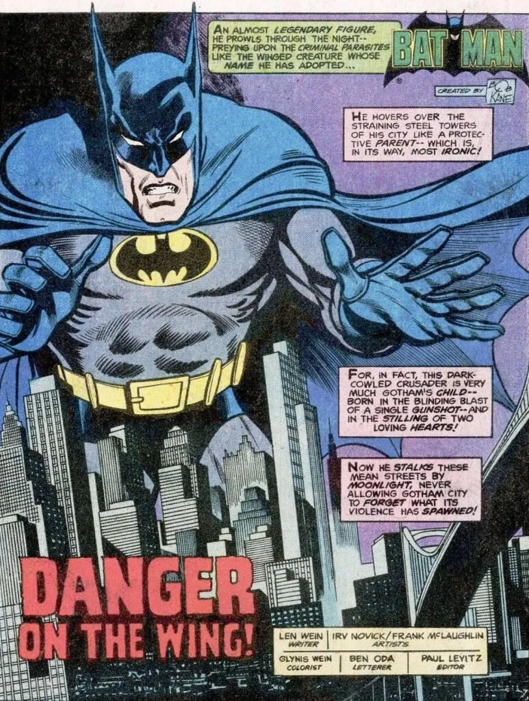 Batman, der Gotham City vor dem Verbrechen schützt (#315, September 1979)