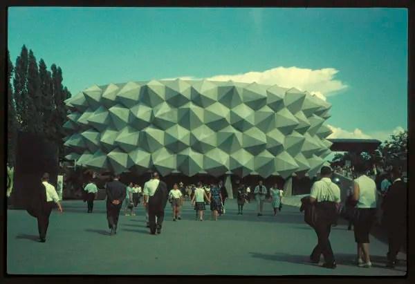 """Der Igel"": Armee-Pavillon an der expo 64; Quelle: 20min.ch"