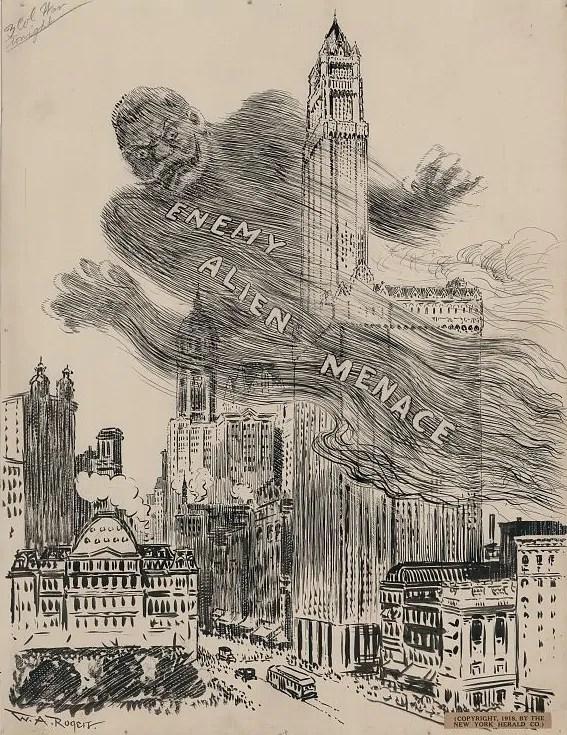 New York Herald, March 28, 1918; Quelle: pasadena.com